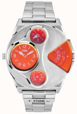 STORM | V2 Navigator Lazer Red Dual Time Stainless Steel Watch | 47246/R