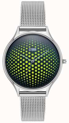 STORM | Cobra-X Green Watch | Stainless Steel Mesh Strap | 47427/GN