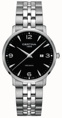 Certina Mens DS Caimano Stainless Steel Black Dial C0354101105700