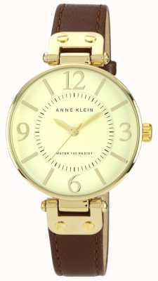 Anne Klein | Womens Chelsea Watch | Gold and Brown | 10-N9168IVBN