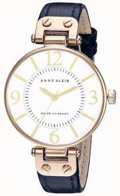 Anne Klein | Womens Chelsea Watch | Navy Leather | 10-N9168RGNV