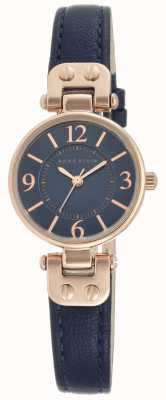 Anne Klein | Womens Manhattan Watch | Navy Leather | 10-N9442RGNV