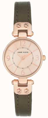 Anne Klein | Womens Manhattan Watch | Khaki Leather | 10-N9442RGOL