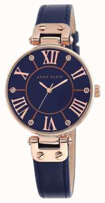 Anne Klein | Womens Signature Watch | Navy Leather | 10-N9918RGNV
