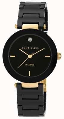 Anne Klein | Womens Alice | Black Ceramic Bracelet Watch AK-N1018BKBK