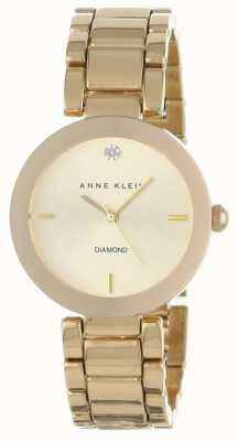 Anne Klein | Womens Liberty | Gold Tone Bracelet Watch | AK-N1362CHGB
