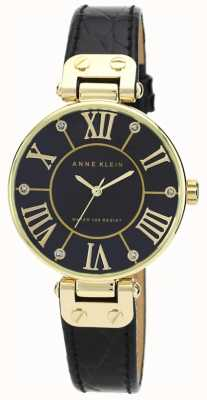 Anne Klein | Womens Signature Watch | Black And Gold | AK-N1396BMBK