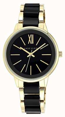 Anne Klein | Womens Olivia Resin Watch | Black And Gold | AK-N1412BKGB