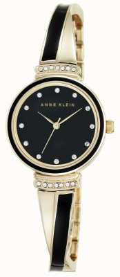 Anne Klein | Womens Clarissa Black | Cross Over Bangle Watch | AK-N2216BKGB