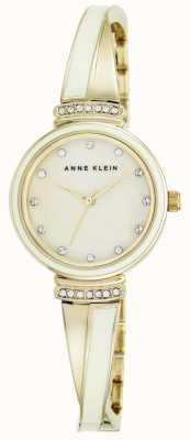 Anne Klein | Womens Clarissa White | Cross Over Bangle Watch | AK-N2216IVGB