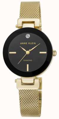 Anne Klein | Womens Amelia | Gold Tone Mesh Bracelet Watch | AK-N2472BKGB