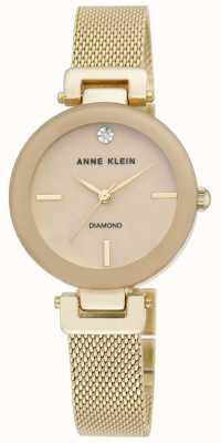 Anne Klein | Womens Amelia | Gold Tone Mesh Bracelet Watch | AK-N2472TMGB