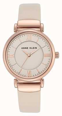 Anne Klein | Womens Zoey | Rose Gold Leather Strap Watch | AK-N2666RGIV