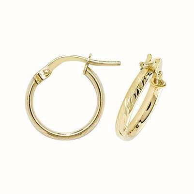 Treasure House 9k Yellow Gold Hoop Earrings 10 mm ER1042-10