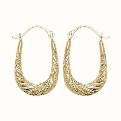 Treasure House 9k Yellow Gold Creole Hoop Earrings ER474