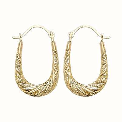 Treasure House 9k Yellow Gold Creole Hoop Earrings ER495