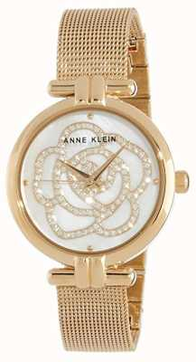 Anne Klein | Womens Flower Watch | Gold Tone | AK-N3102MPGB