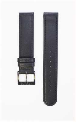 Mondaine Genuine Leather Strap Ion Plated Black Buckle 18mm FE311820IPB