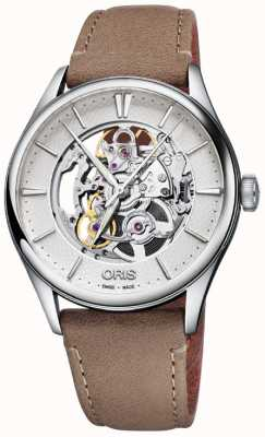 Oris Artelier Skeleton Mens Watch 01 734 7721 4051-07 5 21 32FC