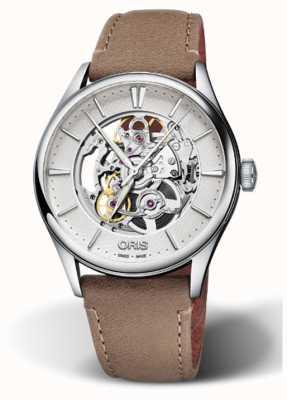 ORIS Artelier Skeleton Men's Watch Swiss 01 734 7721 4051-07 5 21 32FC