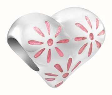 Chamilia Daisy Heart | Pink Enamel 2020-1160