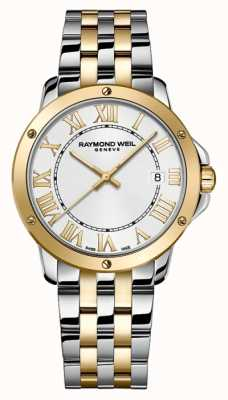 Raymond Weil Mens Tango | Two Tone Stainless Steel Bracelet | Silver Dial 5591-STP-00308