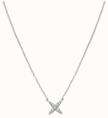 "Adore By Swarovski 4 Point Star Necklace 16-18"" Rhodium Plated 5259847"