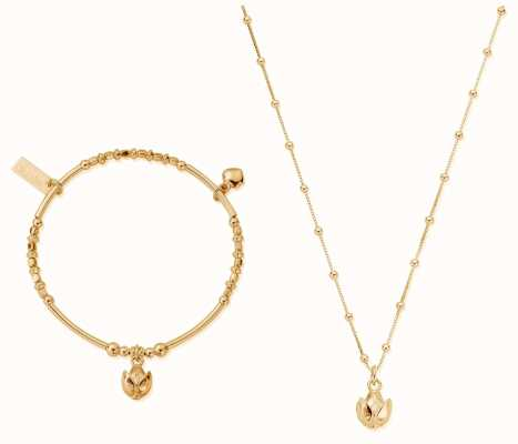 ChloBo | Gold Beautiful Soul Set | Necklace & Bangle GBNVAL19