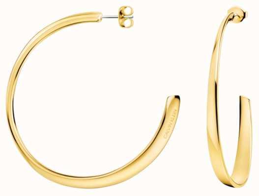Calvin Klein | Womens Groovy | PVD Yellow/Gold Earrings KJ8QJE100100