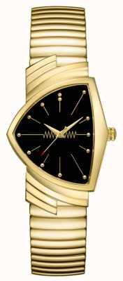 Hamilton | Ventura Quartz Watch | Black Dial | Flexible Bracelet | H24301131