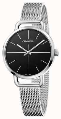Calvin Klein | Even Watch | Stainless Steel Mesh Strap | Black Dial | K7B23121