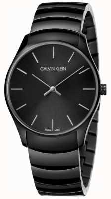 Calvin Klein   Mens Classic Midsize   Black Stainless Steel Strap   K4D21441