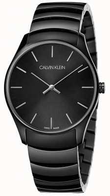 Calvin Klein | Mens Classic Midsize | Black Stainless Steel Strap | K4D21441