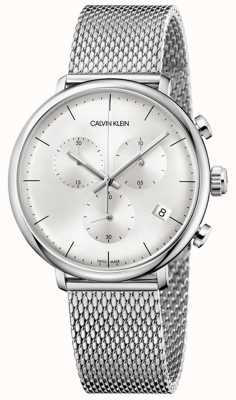 Calvin Klein | Mens High Noon Stainless Steel Strap | Silver Dial | K8M27126
