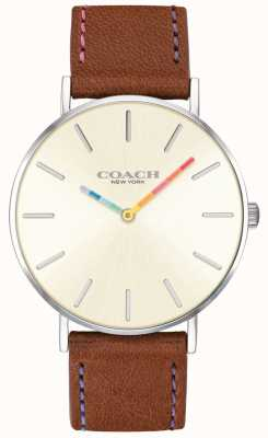 98b510f0d Coach | Womens Perry Watch | Brown Leather Strap White Dial | 14503032