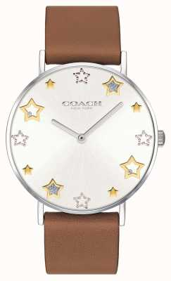 Coach | Womens Perry Watch | Brown Leather Strap | 14503242