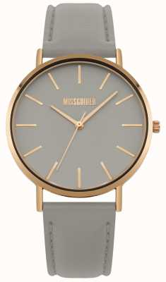 Missguided | Ladies Watch | Grey Leather Strap Grey Dial | MG017ERG