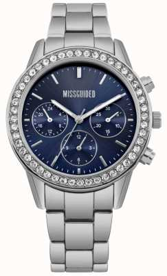Missguided | Ladies Watch | Stainless Steel Blue Dial | MG002USM