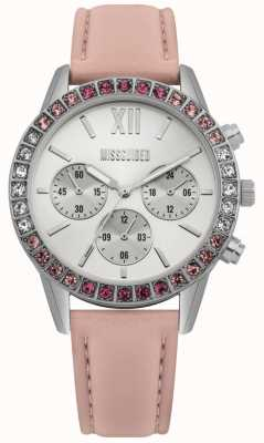 Missguided | Ladies Watch | Pink Leather Strap | MG015P
