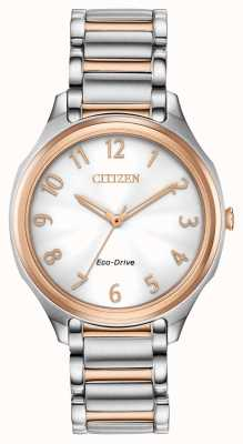 Citizen Women's Eco-Drive Two Tone Metal Bracelet EM0756-53A