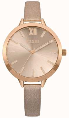 Missguided | Women's Nude And Rose Gold Strap | Rose Gold Dial | MG005CRG
