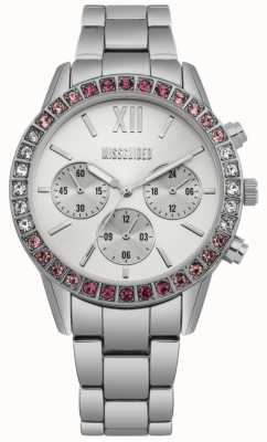 Missguided | Womens Stainless Steel | Silver Dial | Crystal Bezel MG015SM