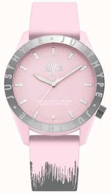 Hype | Womens Pink/Grey Silicone Strap | Pink Dial | HYL008PS