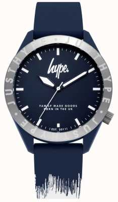Hype | Mens Blue/White Silicone Strap | Blue Dial | HYG006UW