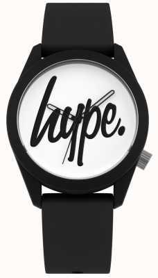 Hype | Black Silicone Strap | White Dial | HYU001B