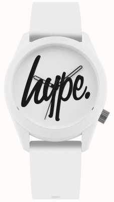 Hype | White Silicone Strap | White And Black Dial | HYU001W