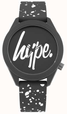 Hype | Mens Grey And White Print Silicone Strap | Grey Dial | HYG003BW