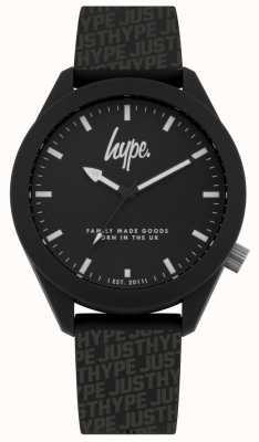 Hype | Mens Black Hype Print Silicone | Black Dial | HYG017B