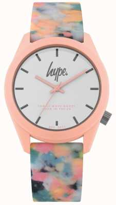 Hype | Pink Multi-Colour Silicone Strap | White Dial | HYU009PU