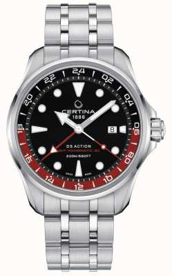 Certina | DS Action | GMT Powermatic 80 | Black Dial | C0324291105100